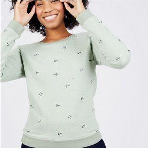 Scotch & Soda Green Anchor Print Sweatshirt XS